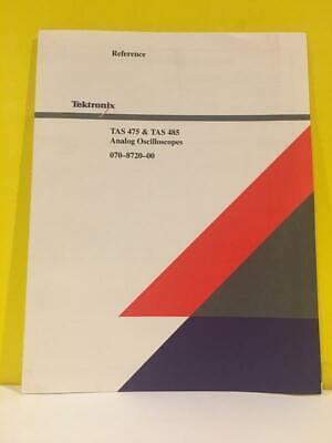 Tektronix 070-8720-00 Tas 475 Tas 485 Analog Oscilloscopes Reference