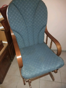Glider rocking chair with cushion