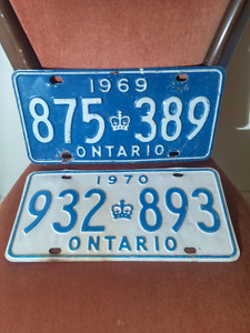 Antique Classic License plates