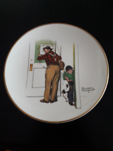 Norman Rockwell Plates - 1979 Set of 4 Seasons