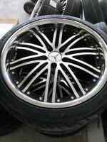 """20"""" vossen 082 staggered set with tires for sale"""