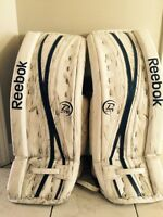 Ice hockey goalie pads Reebok p4 pads 31+1 18k   Intermediate
