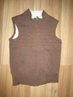 "GIRLS BROWN ""OLD NAVY"" VEST - SIZE 8"