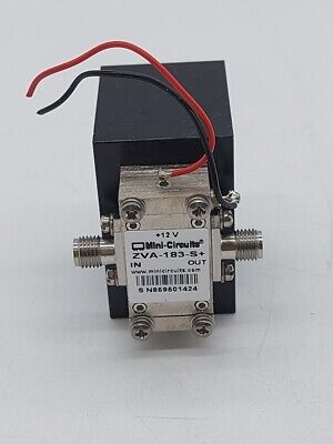 Mini-circuits Zva-183-s  Wideband Amplifier 50 700 Mhz To 18 Ghz