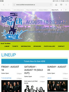 2 Weekend Passes to Rock The River August 18-20 in Saskatoon