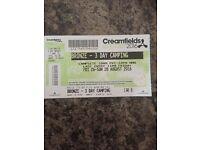 Creamfields Bronze 2016 - 3 Day Camping Ticket