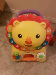 Lion Sit or Walk Toy (EUC)