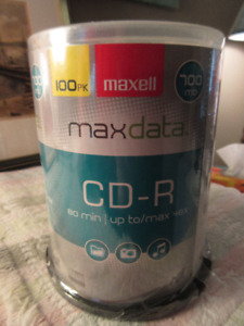 Maxell CD-R 100 pack new in plastic 700MB  80 Min 48X