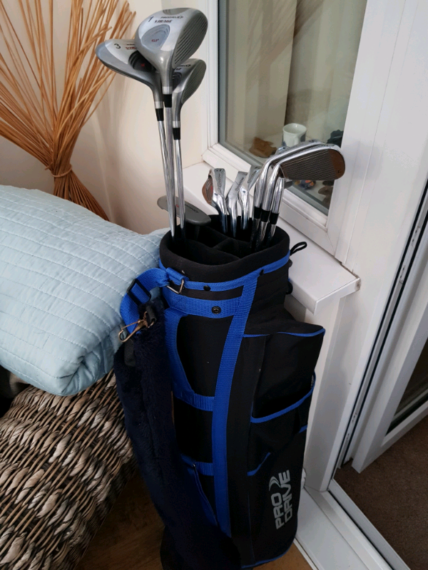 Mens righthand golf set with carry bag. Prodrive Virage