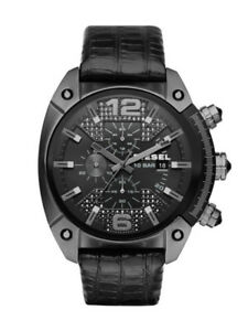 NEW Diesel Men's DZ4372 Overflow Analog Quartz Leather Watch