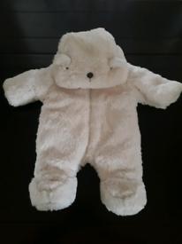 FLUFFY BEAR PRAMSUIT/SNOWSUIT