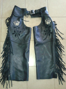 Leather Woman's Chaps For Sale