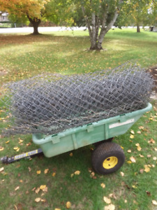 used Galvanized link fence