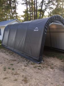ShelterLogic 10'x20'x8' Grey Auto Shelter