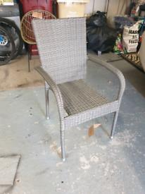 Rattan grey chair