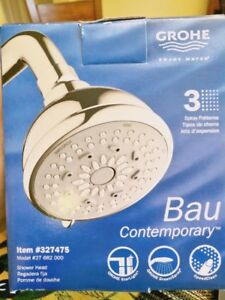 GROHE Bau Contemporary 3 Spray Patterns Overstock Shower Head