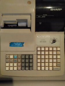 cash register-sharp 440,keys,rolls,box,manuals,ecellent working