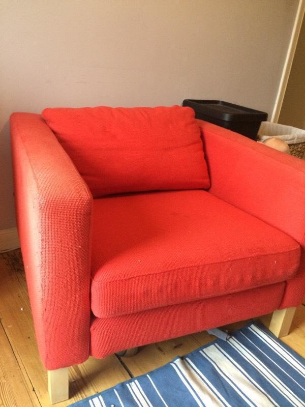 Red Ikea Armchair In Clevedon Somerset Gumtree