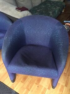 2 Purple/Blue living room Chairs