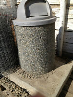 Cement/Rock Garbage Cans