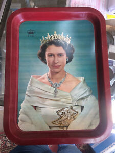 Wonderful 1953 Queen Elizabeth CoronationLitho Tin Serving tray