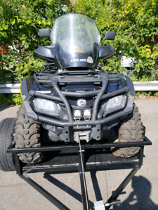 4 roue vtt can am  outlander 650 xtp 2010
