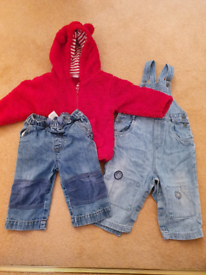 Next 9 to 12 months jacket dungarees and jeans