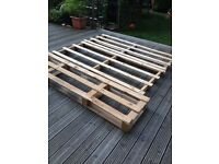 3 extra long pallets ideal for making garden furniture