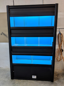 105 gallon (3x35g) aquarium rack