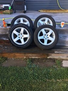 2010 Dodge Charger Factory Rims with Bridgestone All-Seasons