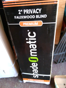 "ShadeOmatic 2"" White Faux Wood Blinds"