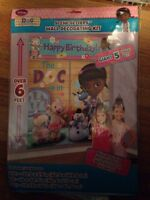 Dr mcstuffins birthday wall decorating kit
