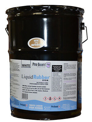 Melted-Rubber -Liquid EPDM coating -5 Gallon - -for roof leaks, repair, sealing