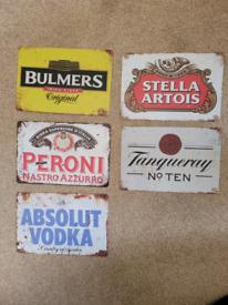 Metal Beer signs