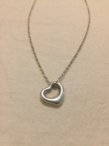 Tiffany and Co open heart pendant necklace