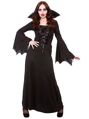 Dark Vampiress Queen Ladies Sorceress Fancy Dress Costume Halloween Womens (28 Halloween Kostüme)