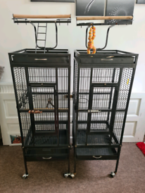 2 parrot cages for sale