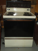 Encore 4 element stove with Self cleaning oven--Almond