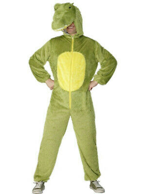 Smiffy's Men's Crocodile Adult Costume Jumpsuit with Hood Large - Crocodile Adult Costume