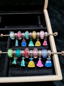 Pandora Disney Dress&Murano on bracelet