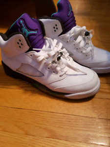 "Authentic Air Jordan 5 ""Grapes"""