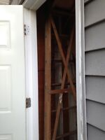 wooden ladder with easel brace. 8 foot