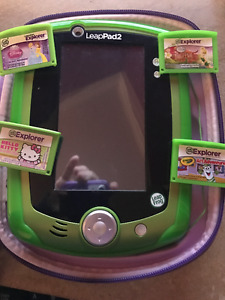 Leap Pad 2 for sale with case and 4 games