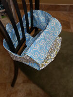 """Portable homemade baby high chair """"anywhere chair"""" Lots of color"""