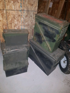 Ammunition boxes.   Strong box water tight.