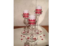 Glass candle sticks