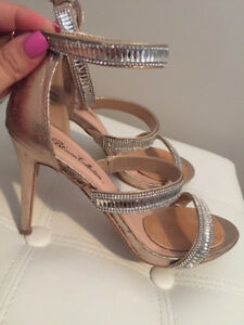 SANDALES OR-GOLD POUR MARIAGE OU SOIREE - SIZE 9 - AS NEW