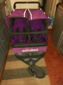 Out N About Nipper V4 Double Pram Pushchair