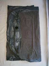Single Air Bed Air Mattress Blue and pump