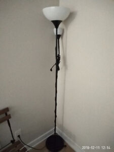 IKEA NOT style floor lamp, black, very new